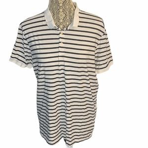 3/$30🛍 H&M Basic Collared Striped Tee Size Large